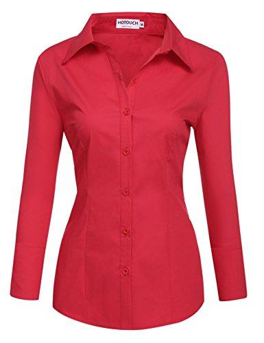 Unibelle DamenBlusetaillierteHemdbluseLangarm - elegant Damenhemd mit...
