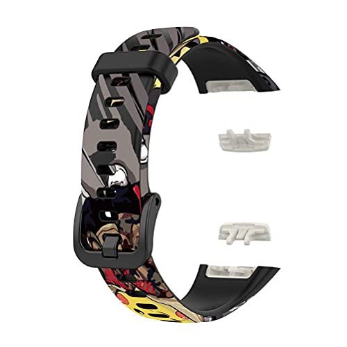 CXWLD Pulseira de relógio compatível com Huawei Band 6/Honor Band 6 pulseira esportiva de substituição de silicone de liberação rápida