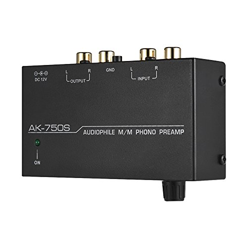 Lepeuxi Audiophiler M/M Phono Preamp Vorverstärker mit Pegelreglern RCA Input & Output Interfaces