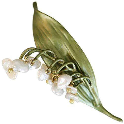 GZRUIGE Shell Glocke Orchidee Brosche Schal Schnalle Brosche Mantel Mantel mit Zubehör Maiglöckchen Brosche