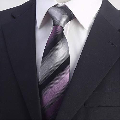 WUNDEPYTIE Herren Seidenkleid Business Annual Gifts Dunkelblauer Streifen Anzug Geschenkbox, Stil 5