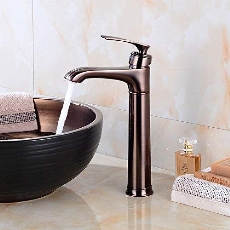 ZHAS Wasserhahn Becken Wasserhahn über der Theke Becken heien und kalten Wasserhahn Badezimmer Vintage Waschbecken Wasserhahn erhht Hahn