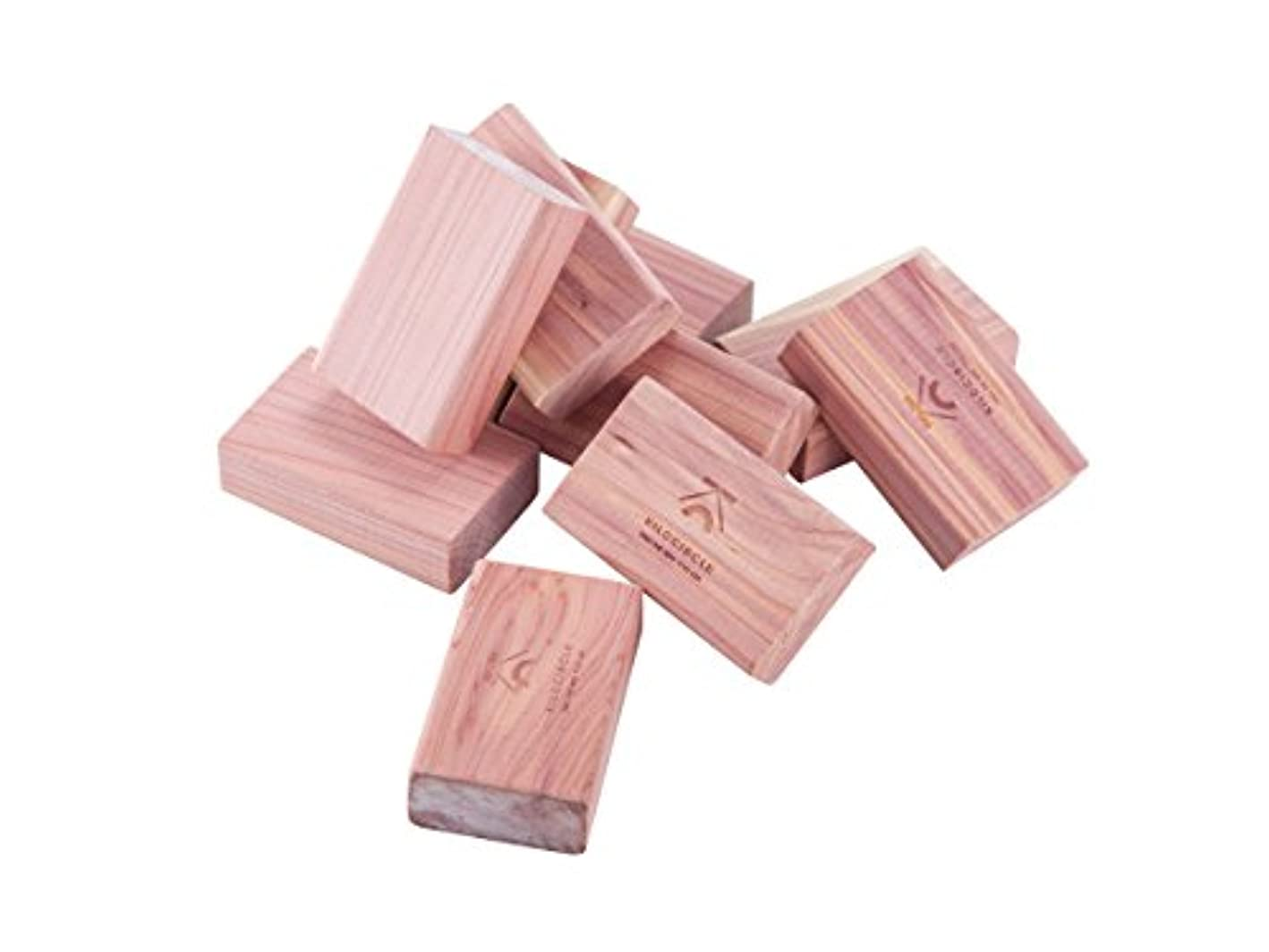 kilocircle red Cedar Blocks with Light Fragrance for Closets Cloth Protector 20 Items Pack