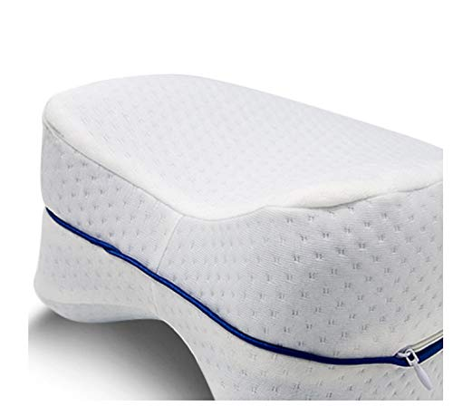 MLXZXQT Memory Foam Pillow Orthopedic Knee Leg Wedge Pillow Cushion for Side Sleeper Sciatica Relief or pillowcase