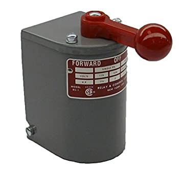 RS-1A-MP Relay & Controls |1.5 hp - 2 hp Electric Motor Reversing Drum Switch - Single Phase Only - Spring Returned