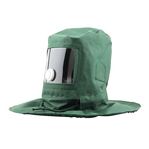 Strahlhaube Sand Sandstrahl Sand Sand Blaster Maske Anti Staub Ausrüstung (Farbe: Grün)