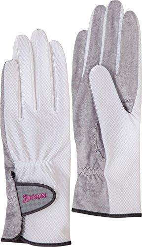 DUNLOP(ダンロップ) レディース テニス グローブ 両手セット 手のひら側穴なしタイプ SGG0700 ホワイト(003) M