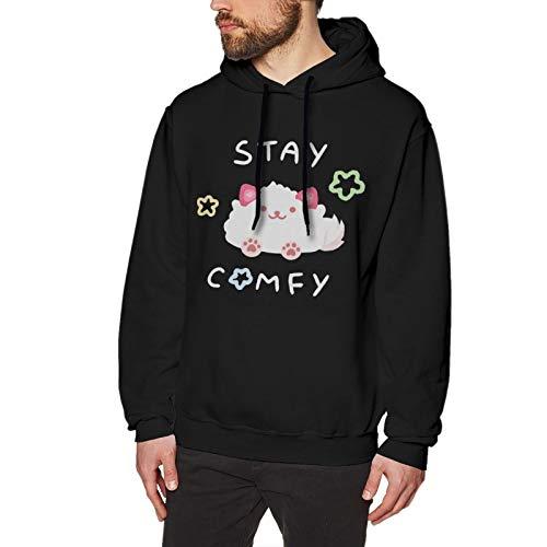 Memeskins LilyPichu Hoodie Men's Pullover Cotton Colorful Hoodie Comfortable SweatshirtBlack Large