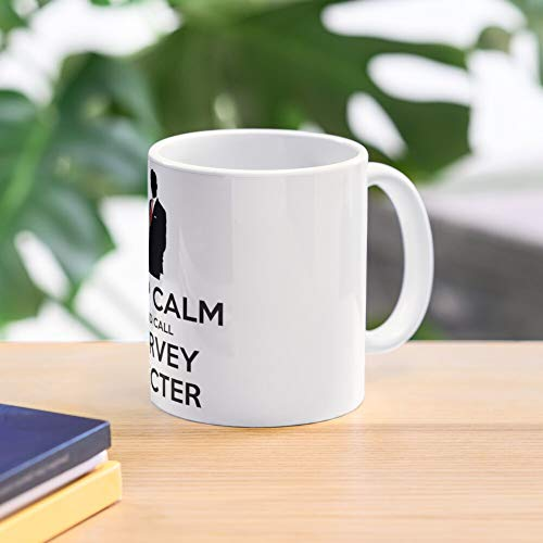 5TheWay and Harvey Calm Specter Mug Keep Call Black - - Taza de café de Regalo de Moda Superventas Negra, Blanca, Cambia de Color 11 onzas, 15 onzas para Todos…