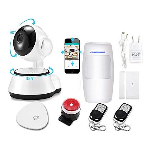Sensor de la ventana de la puerta Inicio Security Smart Burglar Alarm Kit Control de aplicación inalámbrico desde la aplicación WiFi de aplicación inteligente gratuita Detecta la puerta de garaje tras
