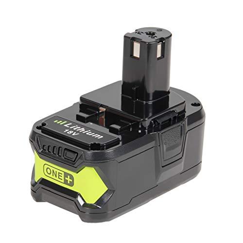 LENOGE Ryobi One Batería de repuesto para Ryobi 18V 5.0Ah Litio RB18L40 P102 P103 P104 P105 P106 P107 P108 RB18L25 RB18L15 RB18L13 RRS1801M R18CS7-0 R18IW3-0 Herramientas eléctricas sin cable