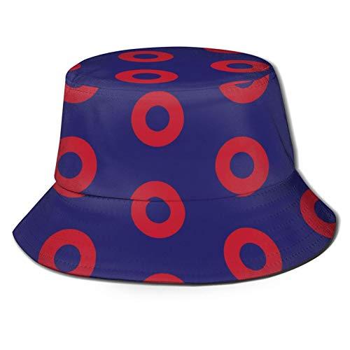 Happy Easter Phish Red Donut Cercles su cappello blu secchio pescatore estate animale Sun Cap regalo per viaggio