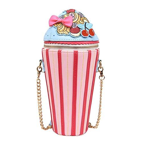 OneMoreT Kreative Frauen Umhängetasche Cupcake Eiscreme Form Schultertasche Fashion Messenger Bag für Teenager Mädchen Reisen