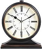 YGB Reloj de Pared de Bricolaje, Reloj de Pared, Reloj de Pared Reloj de Mesa de Estilo Europeo clásico Reloj de Escritorio de decoración de Sala de Estar silencioso Retro Dormitorio Creativo