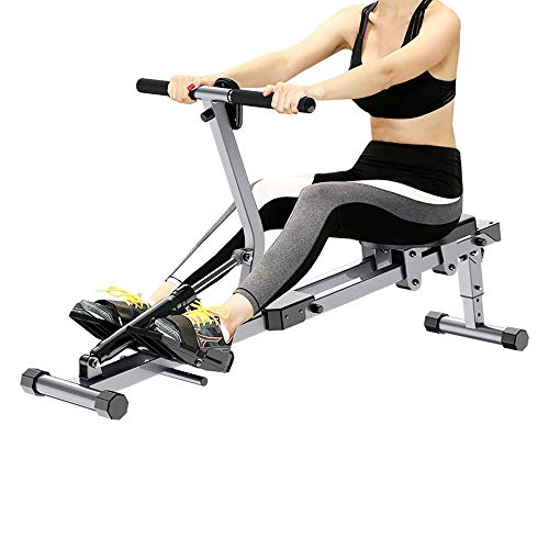 Find Cheap ZAIHW Hydraulic Rowing Machine Full Body Stamina Exercise Power with 12 Levels Adjustable...