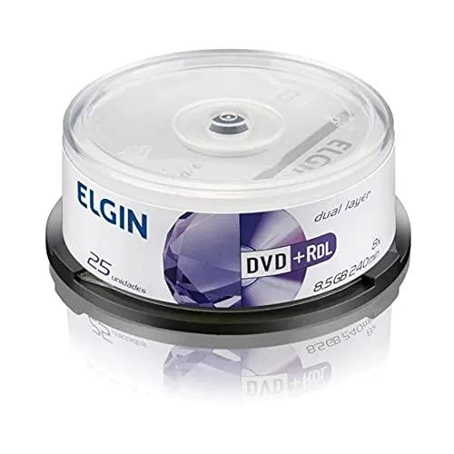 DVD+R DL 8.5GB 8x - Dual Layer - Tubo com 25 unidades - Elgin 82095