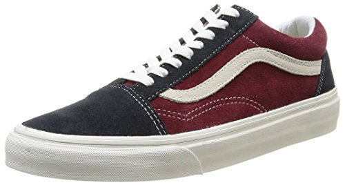 Vans Unisex-Erwachsene U Old Skool Low-top, Mehrfarbig Vintage Blue Graphite Windsor Wine, 42.5 EU