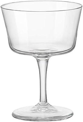 Bormioli Rocco 122114GRS021990 Novecento Stemware Fizz Glass, Set of 4, 7.5 oz, Clear