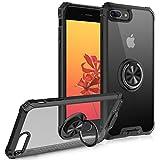 FayTun Funda Compatible con iPhone 8 Plus/7 Plus,Anillo Giratorio de 360 Grados Funda para iiPhone 8 Plus/7 Plus,Iman Soporte Bumper Carcasa,TPU Protectora Cover Compatible con iPhone 8 Plus (Negro)