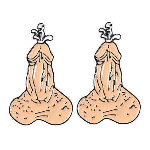 HYLH 2 Piezas Adulto Divertido Órgano Biología Esmalte Pines Insignias Broches Camisa de Mezclilla Pin de Solapa Punk