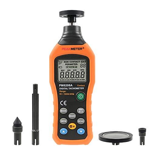 Digital Tachometer Tester Elektronik Drehzahlmesser Tester Handheld Mini 50RPM-19999RPM Meter Motor Drehzahlmesser Einstellbarer Speicher 100Gruppen für die Schulfamilie Industrie Lager Laborgebrauch