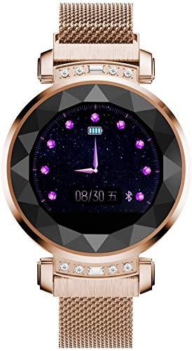 Reloj inteligente de mujer Período Fisiológico Recuerda Monitoreo de Frecuencia Cardíaca Continua Monitoreo del Sueño Pulsera Impermeable - Oro
