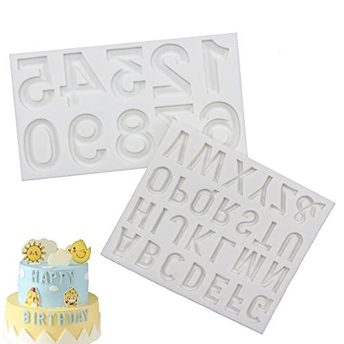 Lettere e numeri stencil,stampi in silicone lettere numeri,stampo per torta in silicone 3d a forma di lettera inglese e numeri,per decorare torte, caramelle, cioccolato, biscotti