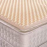 "Geneva Healthcare Egg Crate Convoluted Foam Mattress Pad 4"" Standard Queen Size Topper - 4"" x 60"" x 80"""