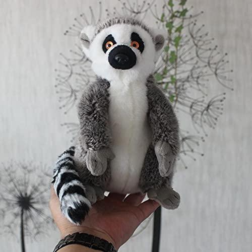 NC277 Simulación muñeca lémur de Cola anillada Lindo Madagascar Lemur muñeco de Peluche Regalo para niños