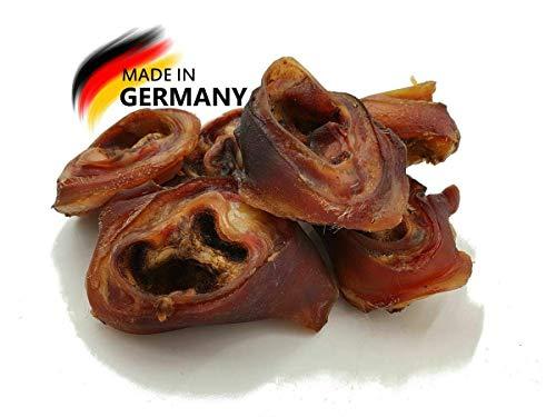 Schweineohrmuscheln 10 Kg, eigene deutsche Herstellung, Kausnack, Für Groß und Klein, Umweltfreundliche Kauartikel durch Trocknung mittels erneuerbaren Energien und wiederverwendeter Kartonage