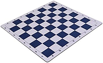 Wholesale Chess 20 Tournament Mousepad Style Roll-Up Chess Board - Navy Blue by Wholesale Chess