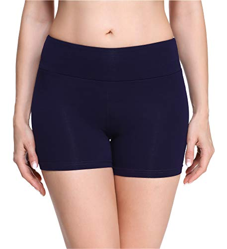 Merry Style Damen Shorts Radlerhose Unterhose Hotpants Kurze Hose Boxershorts aus Viskose MS10-284(Marineblau,M)