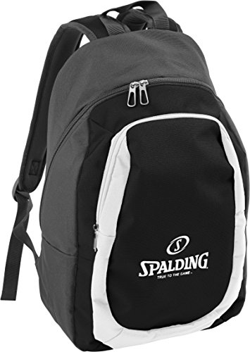 Spalding Unisex-Adult Rucksäcke & Tasche Backpack Essential, Anthracite,Black,White, 20 l