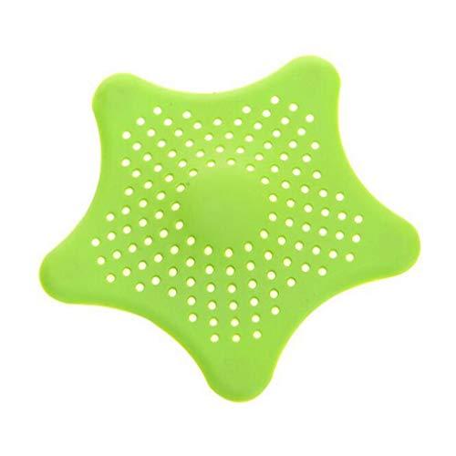 Nicedier-Tech 1 Piezas Filtro de Fregadero de baño Colador de Fregadero de Cocina Colador de Drenaje de alcantarilla Bañera de Silicona Tapa de Drenaje Colector de Cabello por TheBigThumb, Verde