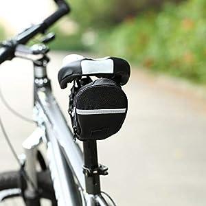 Sanzhileg Bicicleta Impermeable al Aire Libre Bicicleta de montaña Asiento Trasero Bolsa de Nylon Bolsa de sillín Ciclismo Bolso de la Bici para Bicicletas Bolsa de Paquete Trasero