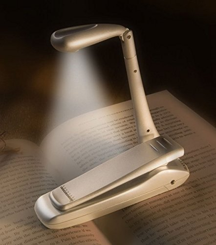 Clip-On Booklight - LED Leselampe - Silber: Ultrahelles LED Leselicht mit Clip