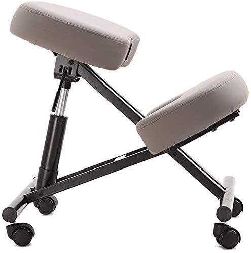 HUXIUPING Kniend Stuhl Ergonomischer Bürostuhl höhenverstellbar Nein Griff Typing Stuhl mit Rollen zu entlasten Müdigkeit