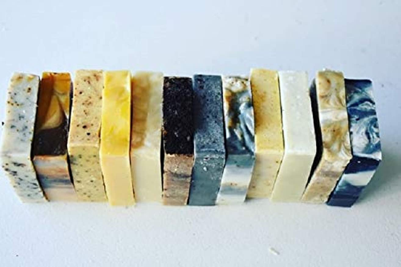 6 Assorted Organic Bar Soaps-3 Ounce Bars-All Vegan-Scented With Essential Oils-Rustic Gift-Spa Gift Soap Set-Soap Sampler Set