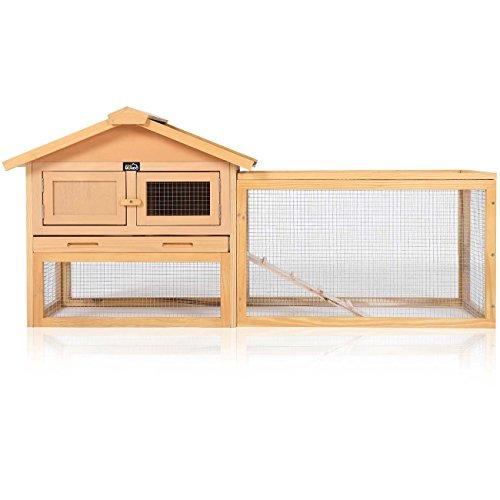 zoomundo Conigliera con Tetto a Cerniera e Spazio Gabbia recintato Realizzato Animali Domestici Criceto Mouse Piccoli Gerbilli in Legno