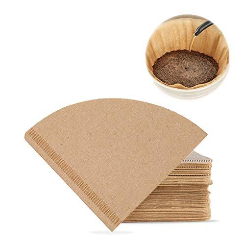 Kaffeefilterpapier, 40 Stück, V60-Kaffeefilter, Größe 1, 1–2 Tassen, natürliches Kaffeefilterpapier, Tropfer, für Filter-Kaffeemaschine, braun