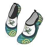 Nicokee Exótico verano tropical palmera arte playa Aqua Yoga calcetines para hombres mujeres zapatos de agua, color, talla 42.5 EU
