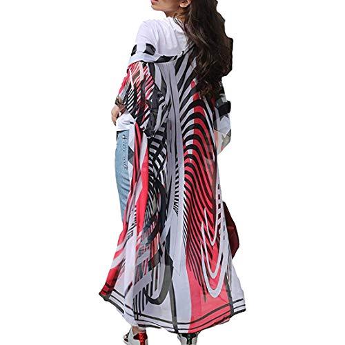 Tyidalin Cárdigans Mujer Florales Largo Vestido Playa Verano Kimono Gasa Maxi Camisolas y Pareos Bohemio (Color 11, Talla única)