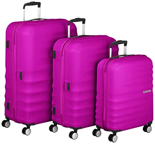 American Tourister Wavebreaker Set di Valigie 3 Pezzi, Hot Lips Pink, 96 ml, 77 cm