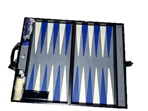 KELVIN Backgammon Jumbo CURPIEL Negro DE Lujo 55X34X15