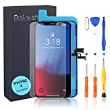 bokman LCD Pantalla para iPhone X, Táctil LCD Reemplazo con Herramientas de Reparación(Negro)