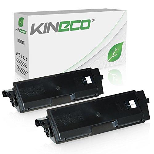 2 Toner kompatibel zu Kyocera TK-590 TK590 für Kyocera Ecosys M6526cdn, Ecosys M6526cdn, FS-C2026MFP, FS-C2126, FS-C2626MFP - Schwarz je 7.000 Seiten