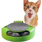 Xinhongzhan Juguete interactivo para gatos, ratón giratorio automático, juguete para gatos (no necesita batería)