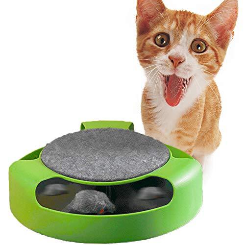 Xinhongzhan Interaktives Katzenspielzeug,Automatisch rotierende Maus Katzenspielzeug Nicht fangbare Maus,Katzen Intelligenzspielzeug Für Kätzchen (Keine Batterie erforderlich)