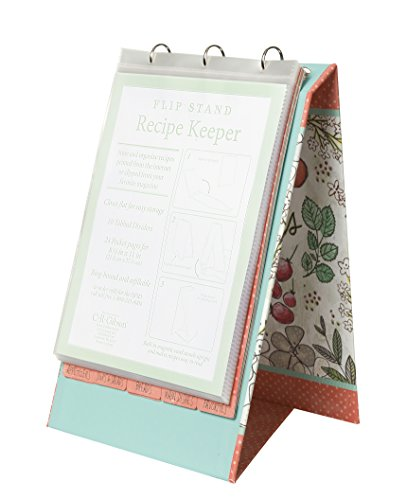 C.R. Gibson QFR3-16556 Vertical Recipe Keeper Flip Stand, Fruit Fusion, Multicolor