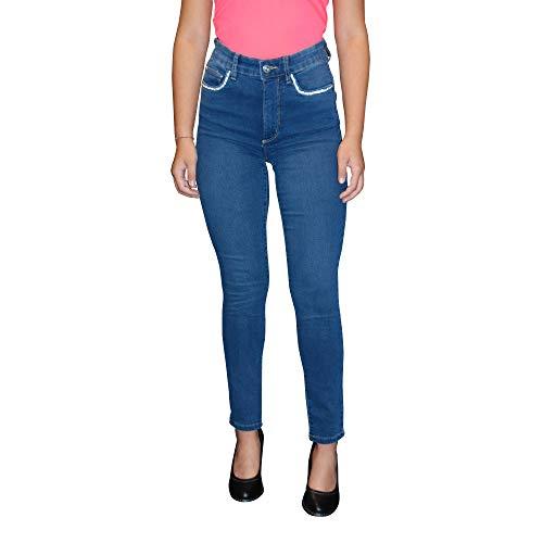STOOKER Damen Stretch Jeans Hose - Skinny Fit - Powerstretch - Model Rio (D48/L28, Medium Blue)